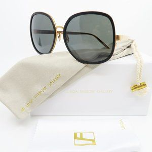 Linda Farrow Luxe LFL444/4 Black & Rose Gold